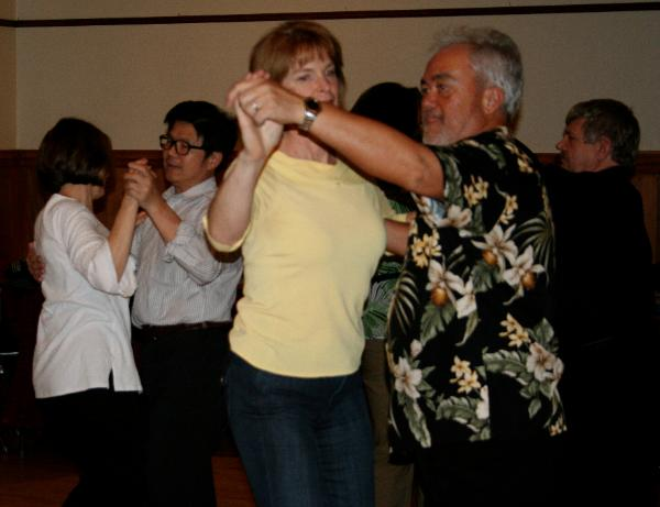 sesame dance club fox trot under arm turn social dancing